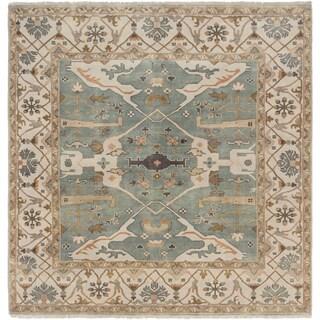 eCarpetGallery Royal Ushak Blue Wool Hand-knotted Rug (9' x 9')