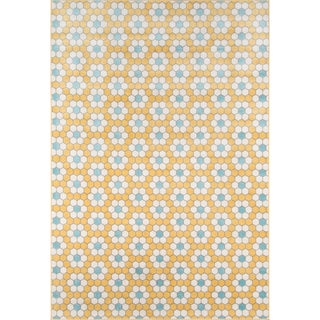 """Novogratz by Momeni Terrace Vintage Tiles Indoor/Outdoor Rug (7'10"""" x 9'10"""") - 7'10"""" x 9'10"""""""