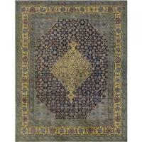 Vintage Reda Brown/Gold Wool Rug - 7'7 x 9'5