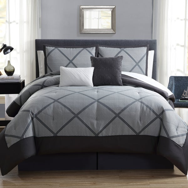 Hamilton Hall Xavier Lattice 10 Piece Comforter Set