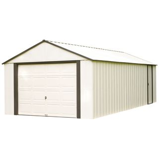 Arrow Murryhill Off-white Vinyl-coated Steel 14-foot x 21-foot Storage Building