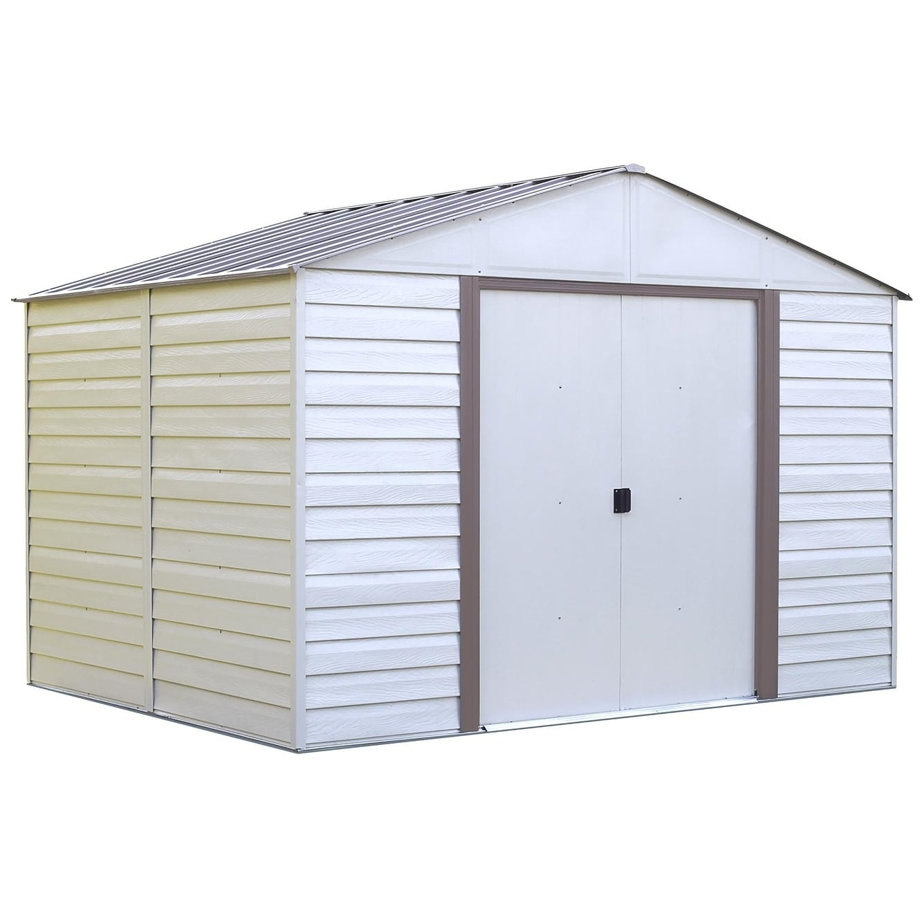 Arrow Group Vinyl Milford 10 x 12 Storage Shed, Beige Off...