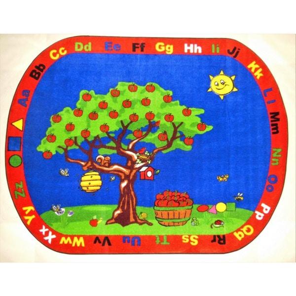 Apple Tree kids area rug - multi
