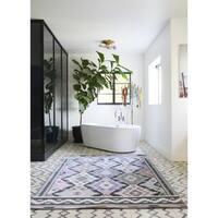 "Novogratz by Momeni Terrace Multi Geometric Indoor/Outdoor Rug - 5'3"" x 7'6"""