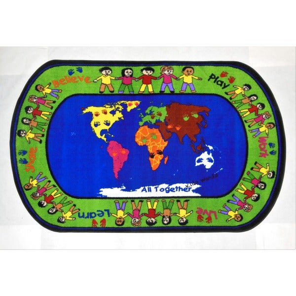 All Together Multicolored Kids' Area Rug (8' x 10') - multi
