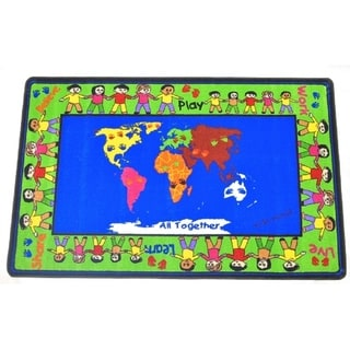 All Together Kids' Multicolor Nylon Area Rug (5' x 8')