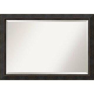 Bathroom Mirror Extra Large, Signore Bronze 41 x 29-inch