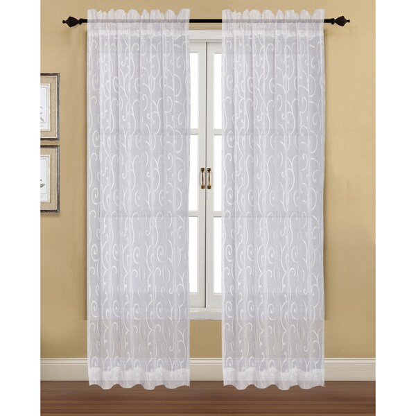 Shop Blair Sheer Curtain Panel Pair Free Shipping Today