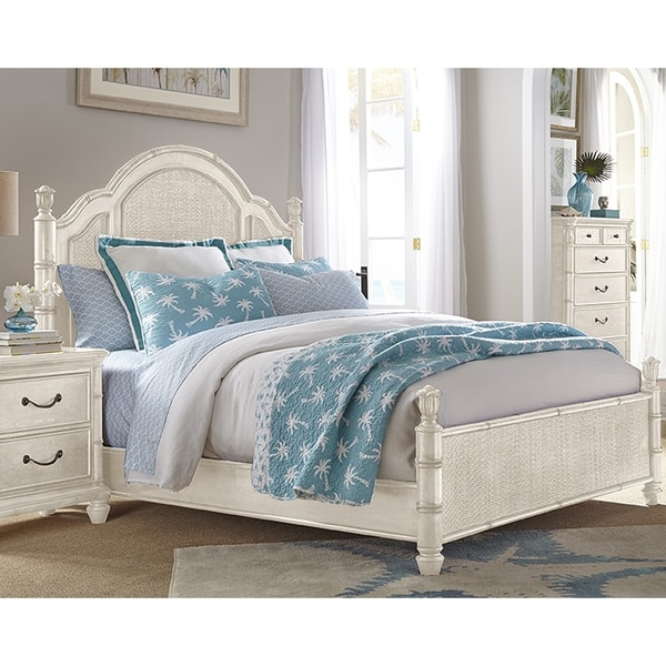 Shop Isle Of Palms Antique White Panel Bed By Panama Jack Free - Panama jack bedroom furniture