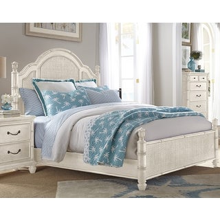 Isle of Palms Antique White Panel Bed by Panama Jack