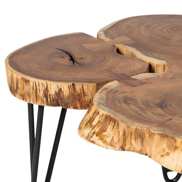 Handmade Deschutes Acacia Log Coffee Table 19 5 X 27