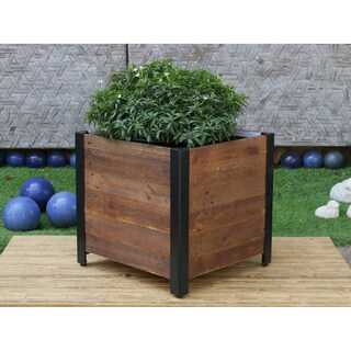 Square Wooden Planter Box