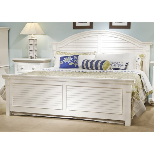 Greyson Living Laguna Antique White Panel Bed 6piece: Beachcrest Panel Beds By Greyson Living