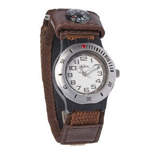 Kipling Sports Kids Brown Quartz Watch with Compass