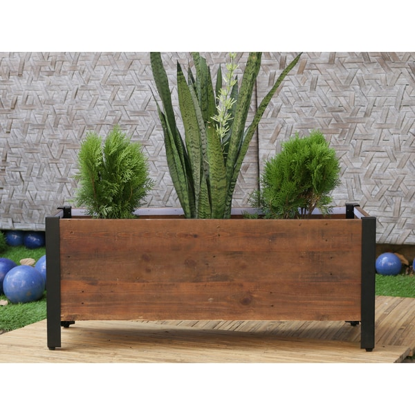 Rectangular urban garden wooden planter box free shipping today rectangular urban garden wooden planter box workwithnaturefo