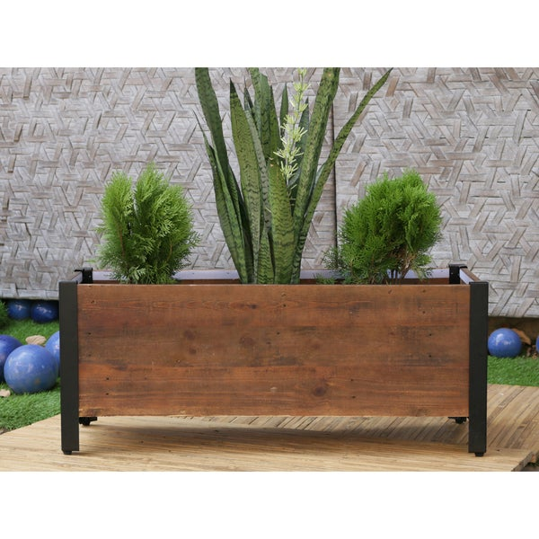 Shop Rectangular Urban Garden Wooden Planter Box Free Shipping