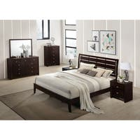 Gloria 351 Brown Cherry Finish Wood Bed
