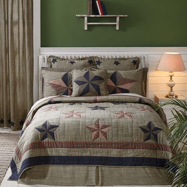 Vincent Americana Cotton Quilt (Shams Not Included)
