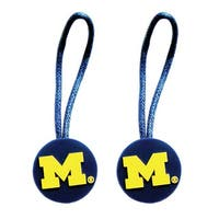 NCAA Michigan Wolverines Zipper Pull Charm Tag Set Luggage Pet ID