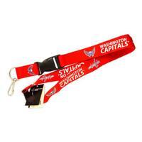 NCAA Washington Capitals Clip Lanyard Keychain Id Ticket Holder - Red