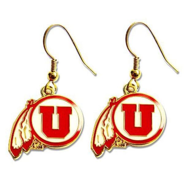 NCAA Utah Utes Dangle Logo Earring Set Charm Gift