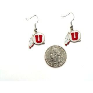NCAA Utah Utes Ut Dangle Charm Earring Set