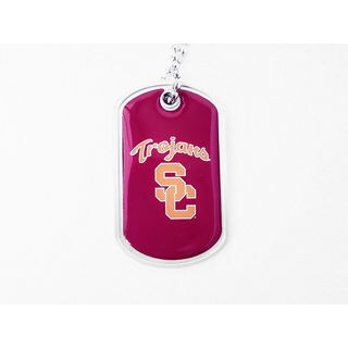 NCAA USC Trojans Dog Fan Tag Necklace