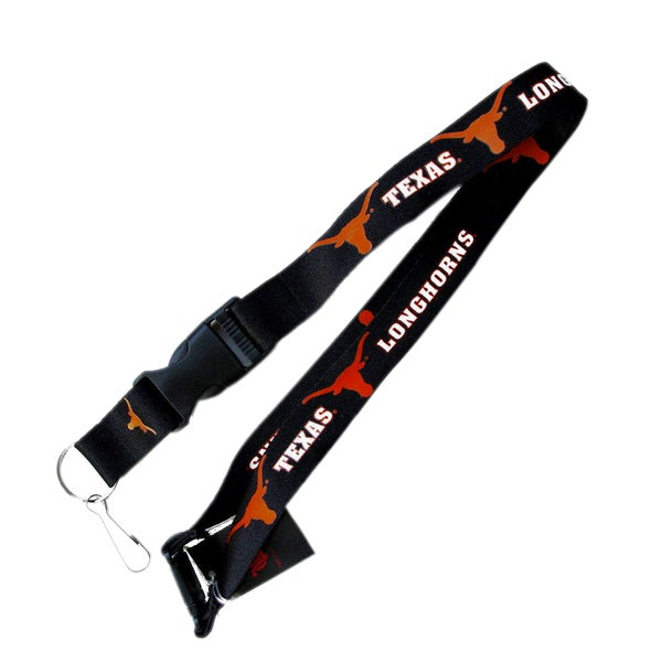 NCAA Texas Longhorns Clip Lanyard Keychain Id Ticket Holder - Black