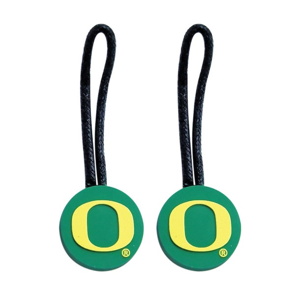 NFL Oregon Ducks Zipper Pull Charm Tag Set Luggage Pet Id
