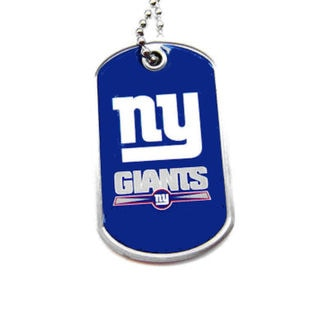 NFL New York Giants Dog Tag Necklace Charm Chain