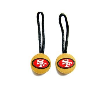 NFL SAN Francisco 49ers Zipper Pull Charm Tag Set Luggage Pet ID
