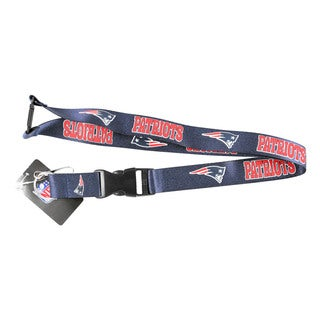 NFL New England Patriots Clip Lanyard Keychain Id Holder Ticket - Blue