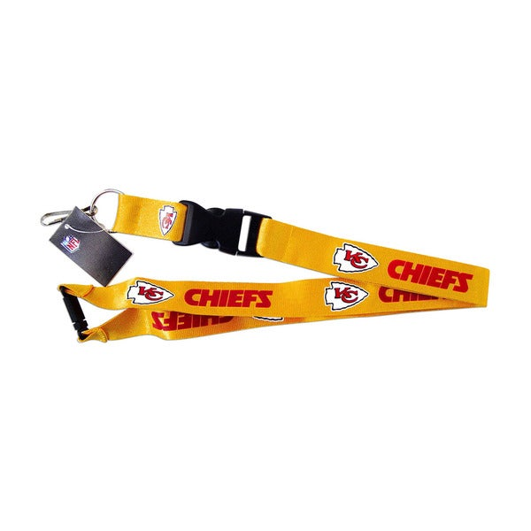 NFL Kansas City Chiefs Clip Lanyard Keychain Id Ticket Holder - Yellow