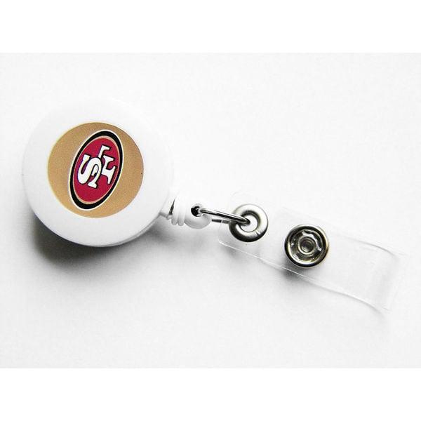 NCAA SAN Francisco 49ers Retractable Badge Reel Id Ticket Clip