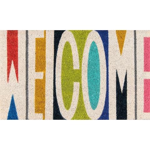 "Novogratz by Momeni Aloha Welcome Coir Doormat 1'6"" x 2'6"" - 1'6"" x 2'6"" - 1'6"" x 2'6"""