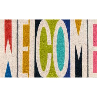"Novogratz by Momeni Aloha Welcome Coir Doormat (1'6"" x 2'6"")|https://ak1.ostkcdn.com/images/products/15389206/P21847771.jpg?impolicy=medium"