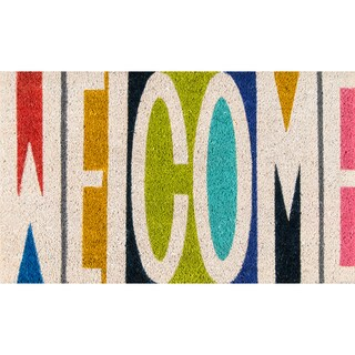 "Novogratz by Momeni Aloha Welcome Coir Doormat (1'6"" x 2'6"")"