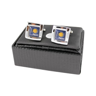 NBA Indiana Pacers Square Cufflinks with Square Shape Logo Design Gift Box Set