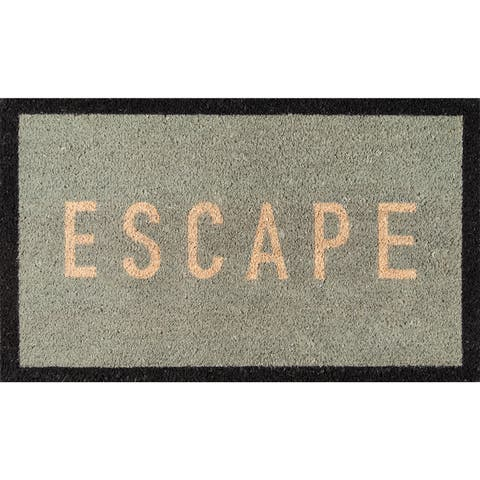 "Novogratz by Momeni Aloha Escape Coir Doormat 1'6"" x 2'6"""