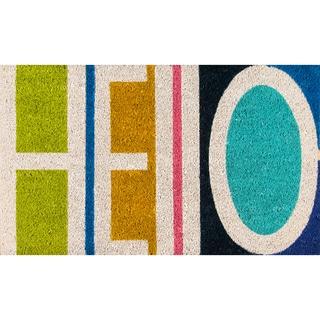 "Novogratz by Momeni Aloha Hello Coir Doormat (1'6"" x 2'6"")"