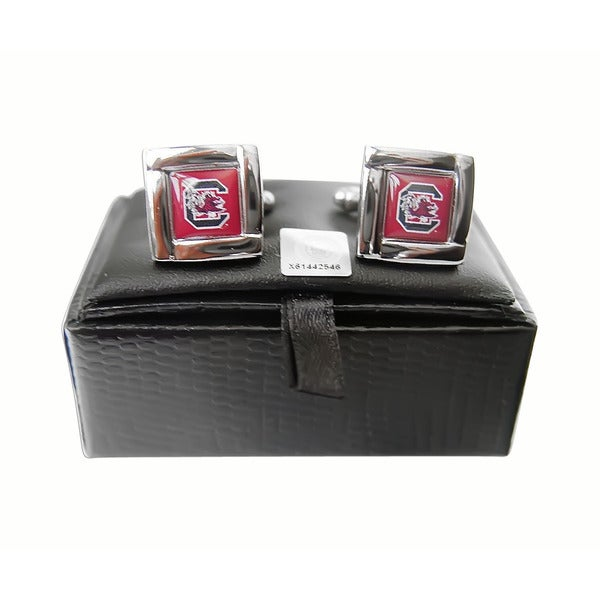 NCAA South Carolina Gamecocks Square Cufflinks Gift Box Set