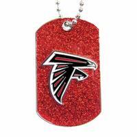 NFL Atlanta Falcons Dog Fan Tag Glitter Necklace