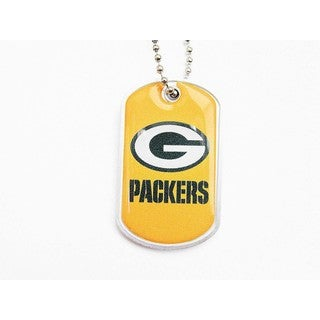 NFL Green Bay Packers Domed Dog Tag Necklace Charm Chain
