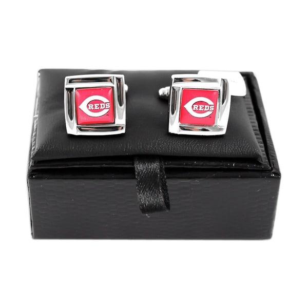 MLB Cincinnati Reds Square Cufflinks Gift Box Set
