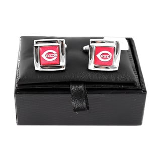 MLB Cincinnati Reds Square Cufflinks Gift Box Set