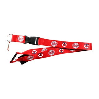 NCAA Minnesota Twins Clip Lanyard Keychain Id Ticket Holder - Red