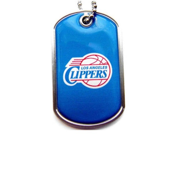 NBA LOS Angeles Clippers Dog Tag Necklace Charm Chain