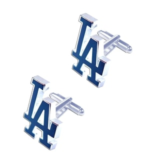 "MLB 3/4""  LA LOS Angeles Dodgers Cut Out Cufflinks Design Gift Box Set"