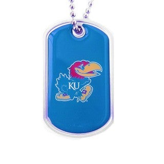 NCAA Kansas Jayhawks Ku Dog Tag Necklace Charm - Blue