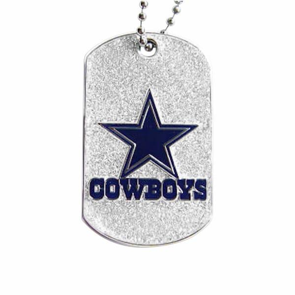 NFL Dallas Cowboys Dog Fan Tag Glitter Necklace